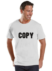 Mens Copy Paste Shirt - Mens White T-Shirt - Funny Shirt - Coordinating Family Shirts - Father's Day Gift Idea - Family Outfits - 7 ate 9 Apparel