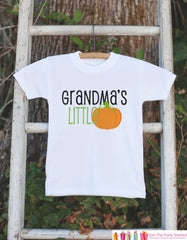 Grandma's Little Pumpkin Halloween Shirt - Pumpkin Onepiece - Fall Outfit for Baby Boy or Baby Girl - Halloween Outfit - Kids Novelty Shirt