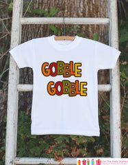 Gobble Thanksgiving Shirt - Gobble Gobble Kids Onepiece or Tshirt - Fall Outfit for Baby Boy or Girl - Thanksgiving Bodysuit - Novelty Shirt