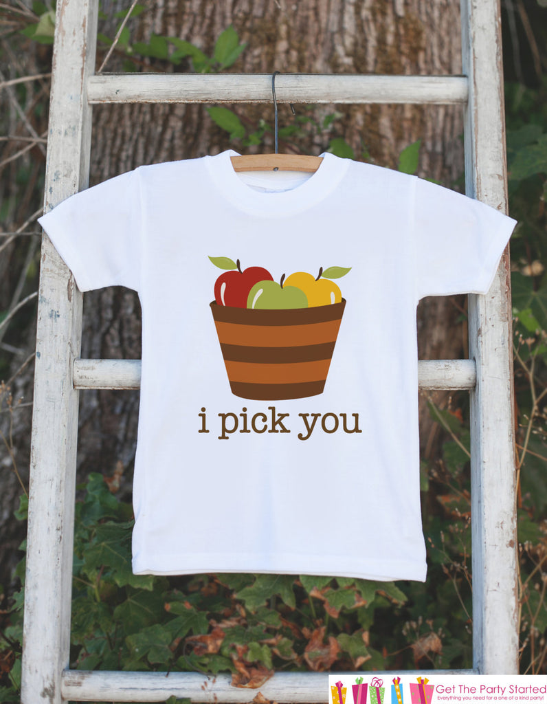 Kids Fall Outfit Shirt - Thanksgiving Shirt - Kids Onepiece or Tshirt - Fall Outfit for Baby Boy or Girl - Thanksgiving Bodysuit with Apples