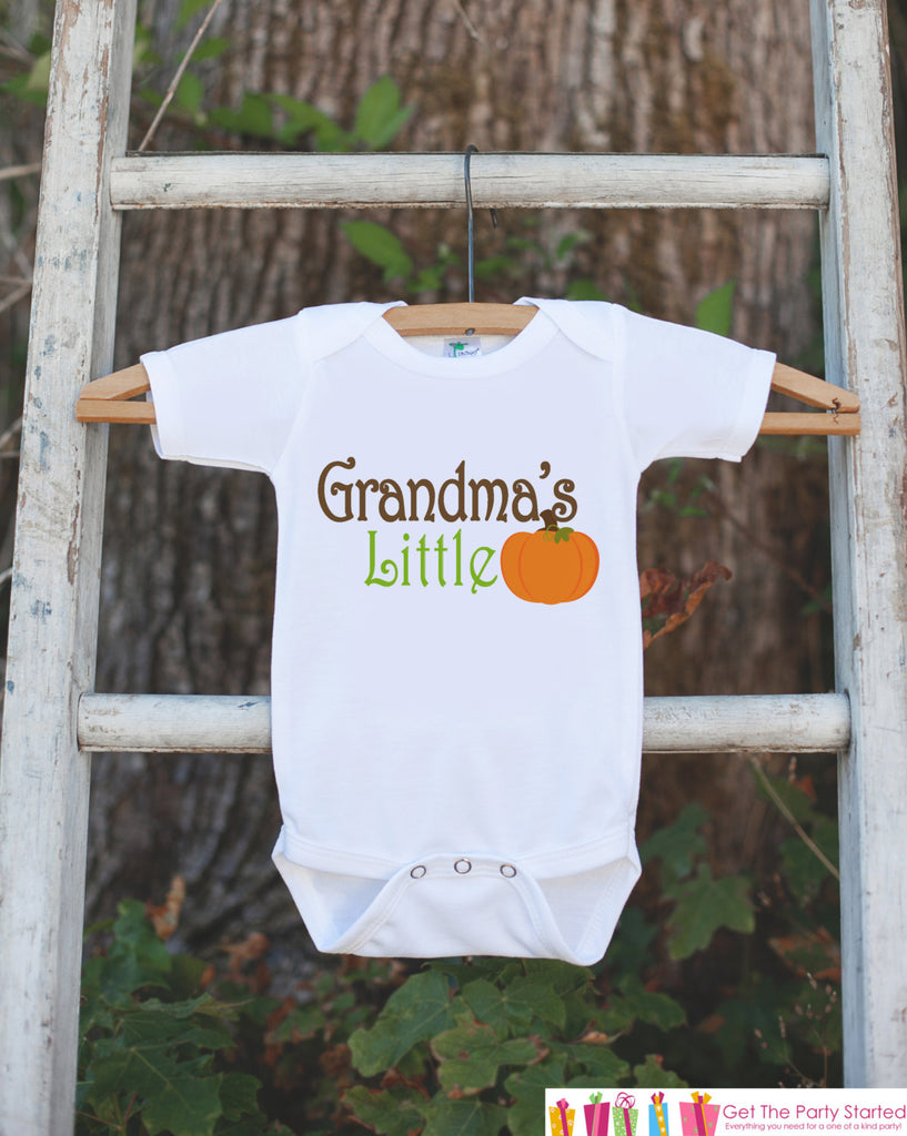 Grandma's Little Pumpkin - Thanksgiving Shirt or Onepiece - Pumpkin Outfit - Fall Outfit for Baby Boy or Baby Girl - Pregnancy Reveal
