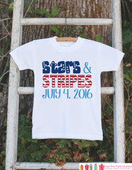 Kids 4th of July Outfit - Custom Stars & Stripes Onepiece or Tshirt - Fourth of July Shirt for Baby, Toddler, Youth - Kids Patriotic Shirt - 7 ate 9 Apparel