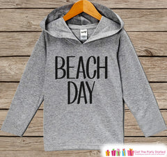 Kids Beach Day Hoodie - Fun Summer Outfit - Children's Pullover - Grey Toddler Hoodie - Infant Hoodie - Beach Outfit, Baby, Youth, Toddler