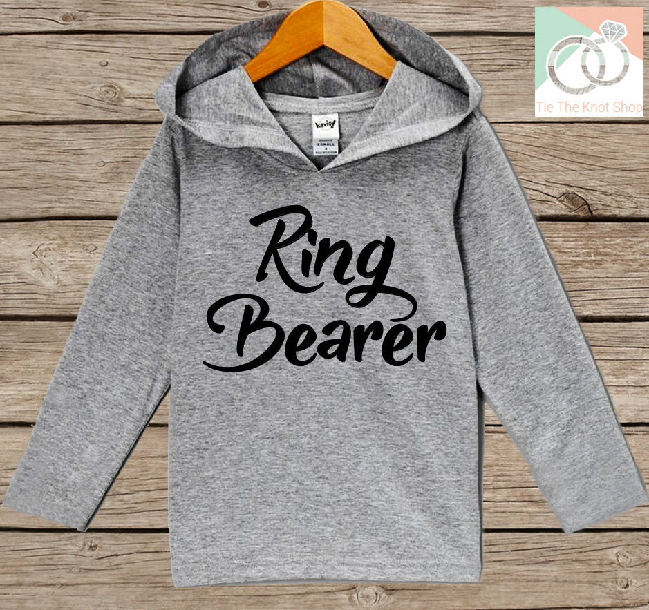 Boys Wedding Hoodie - Ring Bearer Outfit - Ring Bearer Hoodie - Grey Hoodie Kids, Toddler, Baby - Kids Wedding Outfit - Ring Bearer Pullover - 7 ate 9 Apparel