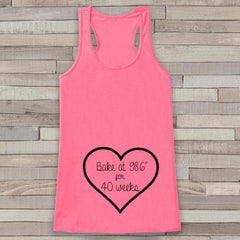 Pregnancy Announcement Tank - Pregnancy Shirt - Pregnancy Reveal to Grandparents - Pink Tank - Pregnancy Announcement Shirt - New Mom - 7 ate 9 Apparel