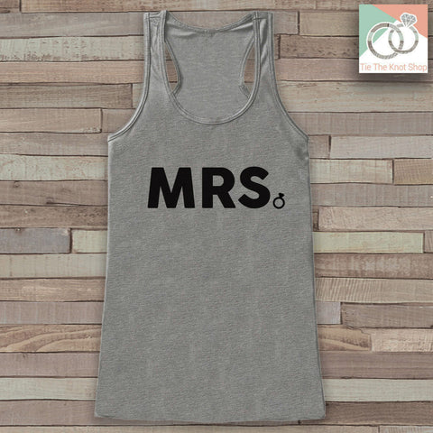 Bride Tank - Mrs. Tank - Bride To Be Tank Top - Wedding Shirt - Simple Bridal Top - Grey Tank Top - Bachelorette Party - Bridal Party Outfit - 7 ate 9 Apparel