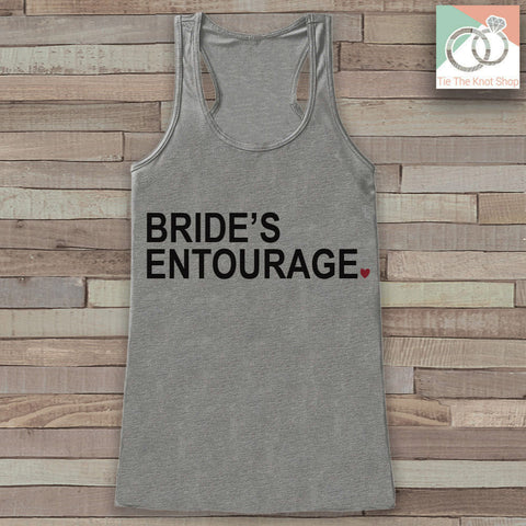 Bridesmaid Tank - Bride's Entourage Tank Top - Wedding Shirt - Grey Tank Top - Simple Bridal Top - Bachelorette Party - Bridal Party Outfit - 7 ate 9 Apparel