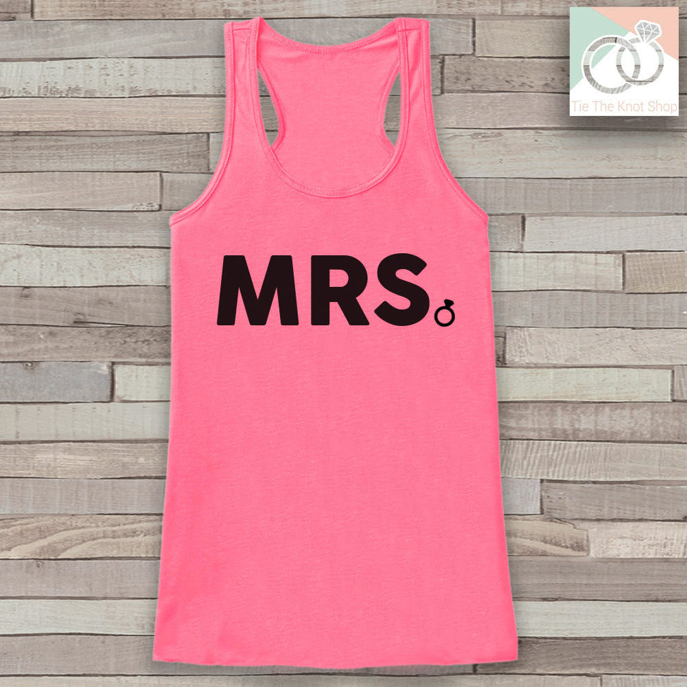 Bride Tank - Mrs. Tank - Bride To Be Tank Top - Wedding Shirt - Simple Top - Pink Tank Top - Bachelorette Party - Bridal Party Outfit - 7 ate 9 Apparel