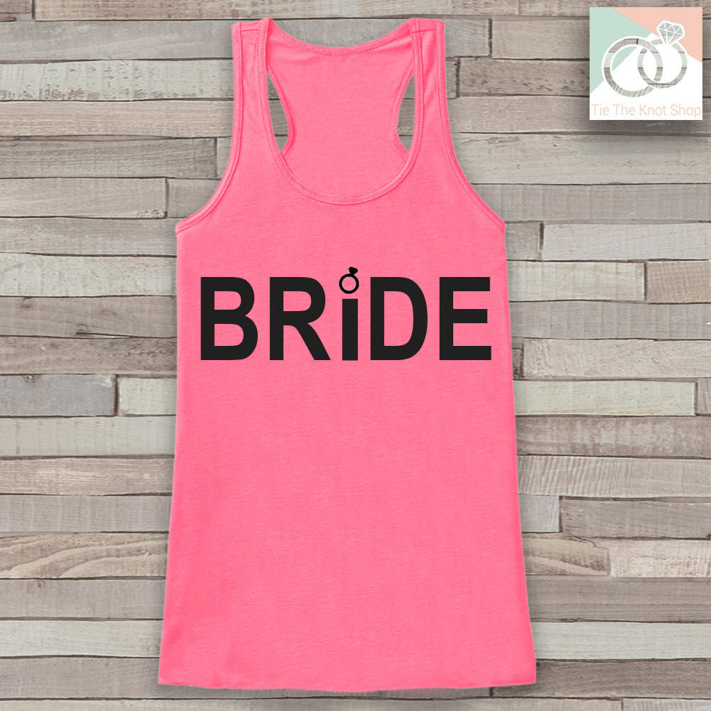 Bride Tank - Bride To Be Tank Top - Wedding Shirt - Simple Bridal Top - Pink Tank Top - Bachelorette Party Top - Bridal Party Outfits - 7 ate 9 Apparel