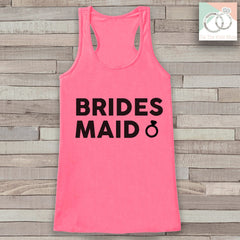 Bridesmaid Tank - Bridesmaid Ring Tank Top - Wedding Shirt - Pink Tank - Simple Bridal Top - Bachelorette Party - Bridal Party Outfit - 7 ate 9 Apparel
