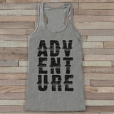 Adventure Tank - Grey Adventure Top - Camping Tank Top - Wilderness Tank Top - Womens Shirt - Outdoors Outfit - Hiking Shirt - 7 ate 9 Apparel