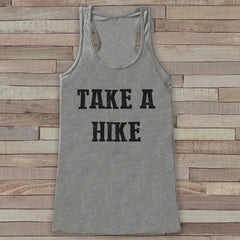 Take a Hike Tank - Hiking Shirt - Adventure Tank Top - Camping Tank Top - Womens Shirt - Outdoors Outfit - Wilderness Shirt - 7 ate 9 Apparel