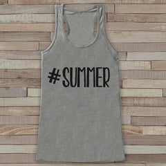 Hashtag Summer Tank Top - Funny Beach Tank - Surf Tank Top - Vacation Tank - Boho Tank - Bathing Suit Cover Up - Bikini Cover Up - 7 ate 9 Apparel