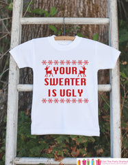 Funny Christmas Outfit - Ugly Christmas Sweater for Kids - Ugly Baby Sweater - Baby Holiday Sweater Party - Novelty Humorous Sweater Outfit