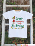 Big Brother Pregnancy Announcement Shirt - Big Brother Holiday Outfit - Big Brother Shirt - Christmas Pregnancy Announcement - Holiday Shirt