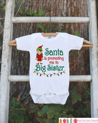 Big Sister Pregnancy Announcement Shirt - Big Sister Outfit - Big Sister Shirt - Christmas Pregnancy Announcement Shirt - Pregnancy Reveal