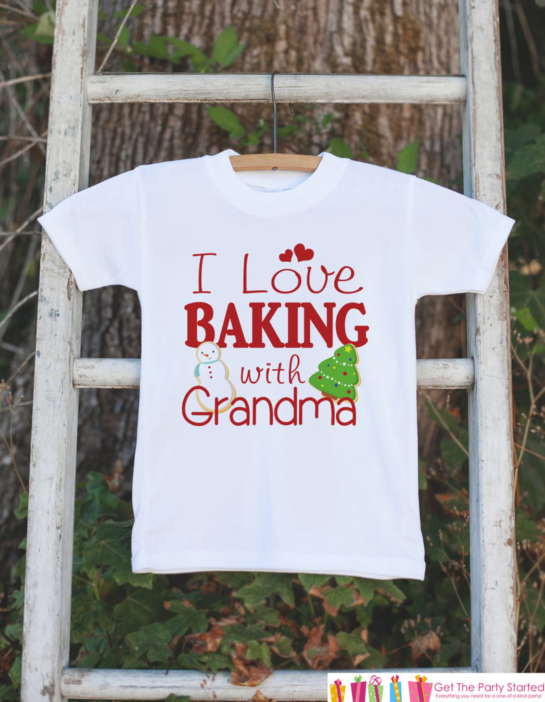 Kids Christmas Outfit - I Love Baking With Grandma Onepiece or ...