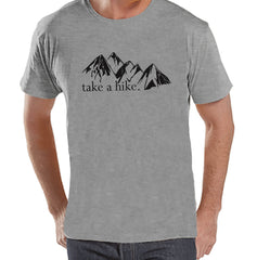 Hiking Shirt - Take a Hike Shirt - Mens Grey T-shirt - Men's Camping, Hiking, Outdoors, Mountain, Nature Tee - Funny Humorous T-shirt - 7 ate 9 Apparel
