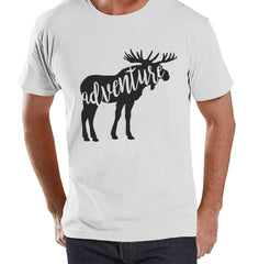 Camping Shirt - Adventure Shirt - Mens White T-shirt - Men's Camping, Hiking, Outdoors, Mountain, Nature Tee - Funny Humorous T-shirt