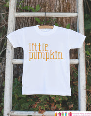 Kids Halloween Shirt - Little Pumpkin Shirt - Halloween Tshirt or Onepiece - Baby Boy or Baby Girl Halloween Outfit - Halloween Costume