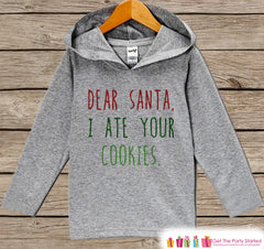 I Ate Your Cookies - Funny Kids Christmas Outfit - Grey Christmas Sweater - Kids Hoodie Pullover - Holiday Shirt for Baby, Toddler, Youth