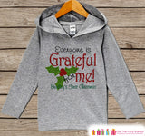 Baby's First Christmas - Kids Hoodie Pullover - Grey Christmas Sweater - Newborn Christmas - Holiday Outfit for Baby, Toddler, Youth - 7 ate 9 Apparel