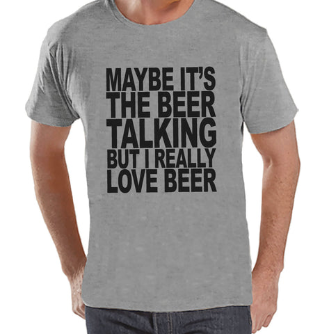 Men's Funny Tshirt - Drinking Shirts - I Love Beer - Mens Drinking Gifts - Funny Gift For Him - Funny Tshirt - St Patricks Day Shirt - 7 ate 9 Apparel