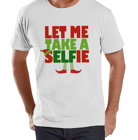 Let Me Take a Selfie Shirt - Christmas Elf Tee - Men's Christmas T-Shirt - Men's White T Shirt - Holiday Gift Idea - Funny Holiday Shirt - 7 ate 9 Apparel