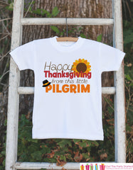 Baby First Thanksgiving Outfit - Little Pilgrim Thanksgiving Shirt or Onepiece - Novelty Baby Boy or Girl Happy Thanksgiving Bodysuit