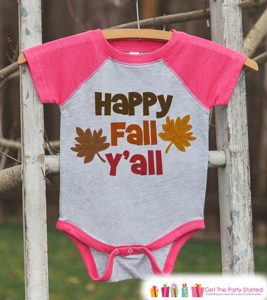 a686ad1e8 Happy Fall Y all Shirt - Baby Fall Shirt - Toddler Girl First Fall ...