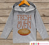 Baby Thanksgiving Outfit - Baby Boy or Girl Turkey Day Shirt - Fresh Out Of The Oven - Grey Hoodie Kids Pullover - Infant Thanksgiving Top - 7 ate 9 Apparel