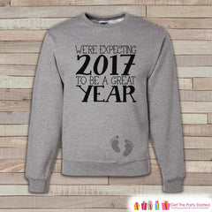Expecting Baby Sweatshirt - Adult Crewneck - New Years Pregnancy - Pregnancy Sweatshirt - Baby Reveal - Pregnancy Announcement - 2017 Baby - 7 ate 9 Apparel