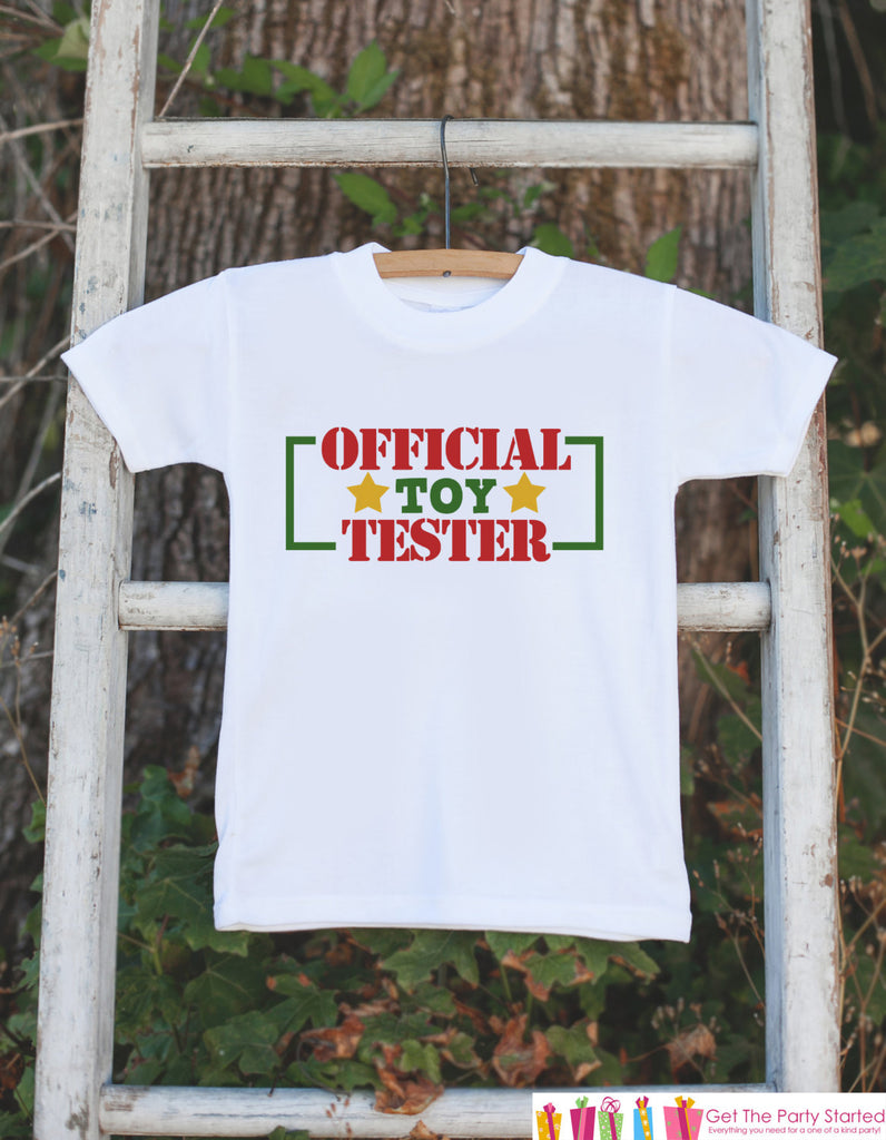 Kids Christmas Outfit - Official Toy Tester Christmas Onepiece or T-shirt - Toddler Christmas Shirt for Boy or Girl - Kids Christmas Outfit