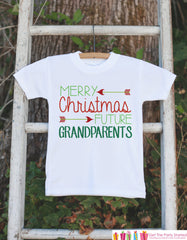 Christmas Pregnancy Reveal - Merry Christmas Future Grandparents  Onepiece - Pregnancy Announcement - Baby Holiday Outfit - Infant Christmas