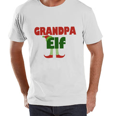Grandpa Elf Shirt - Funny Christmas Tee - Men's Christmas T-Shirt - Men's White T Shirt - Holiday Gift Idea - Elf Christmas Shirt