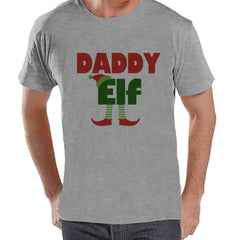 Daddy Elf - Christmas Elf - Funny Christmas Tee - Men's Christmas T-Shirt - Men's Grey T Shirt - Holiday Gift Idea - Christmas Shirt