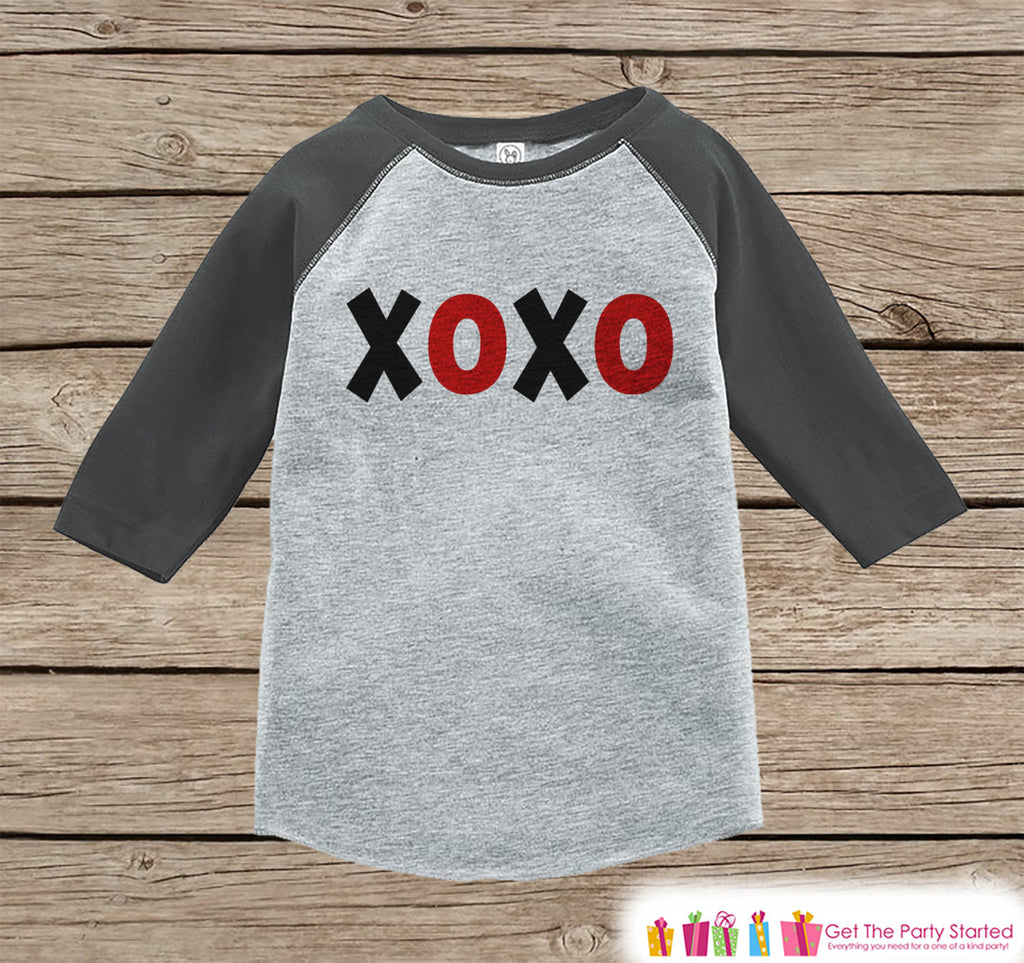 Kids Valentines Outfit - XOXO Kids Valentine's Day Shirt or Onepiece - Valentine Shirt for Boy or Girl - Toddler, Youth Valentine Day Outfit - 7 ate 9 Apparel