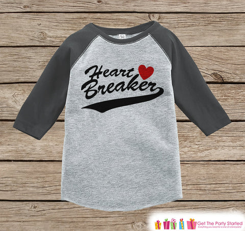 boys valentines outfit heart breaker valentines day shirt or onepiece valentine shirt for boys