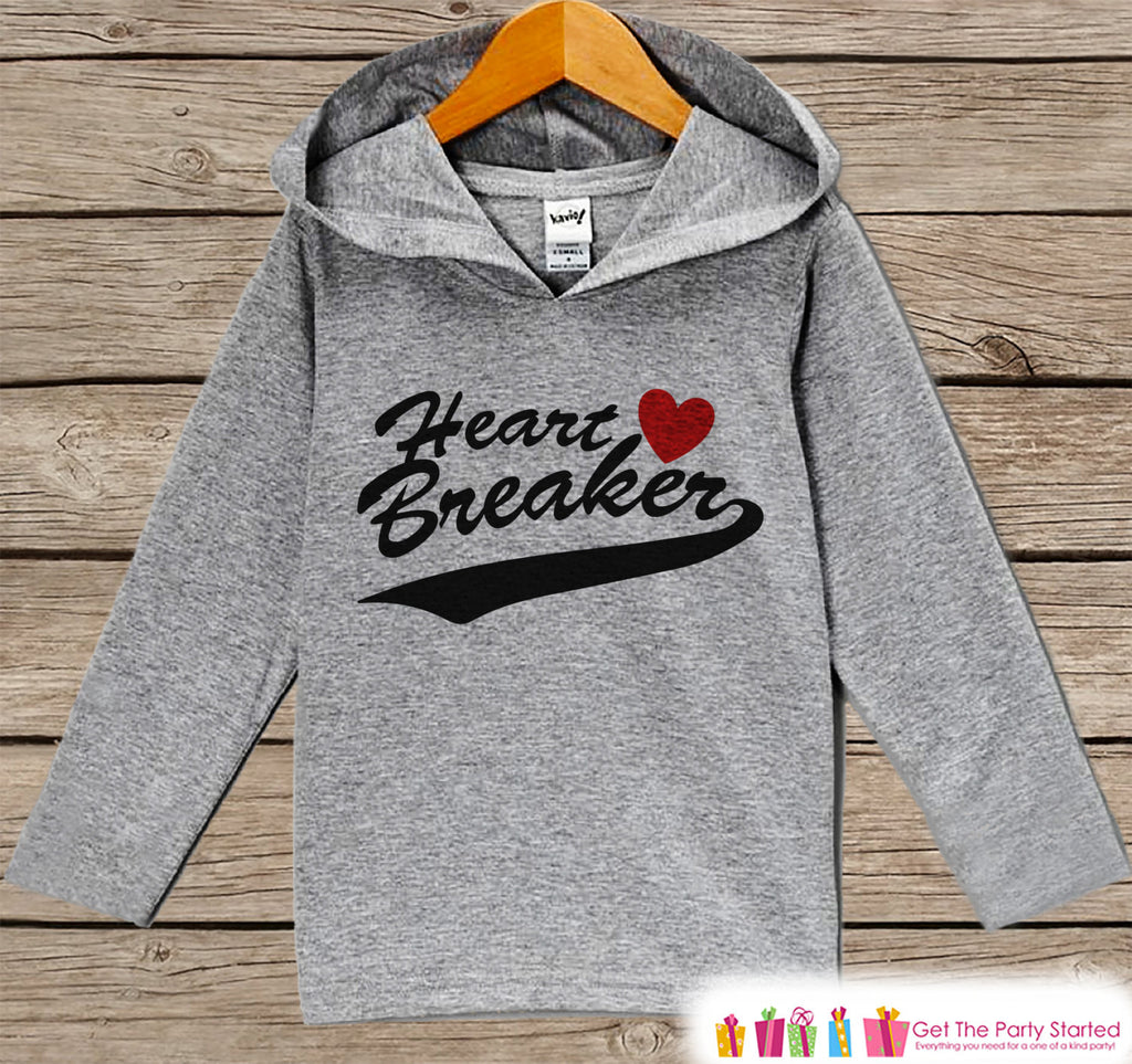 Boys Valentines Day Outfit - Kids Hoodie - Heart Breaker Valentine Pullover - Funny Boys Valentine's Day Outfit - Kids, Baby, Toddler Hoodie - 7 ate 9 Apparel