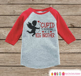 Big Brother Valentine's Outfit - Pregnancy Announcement Onepiece or Tshirt - Cupid Shirt for Boys - Big Brother Pregnancy Reveal - Red Shirt