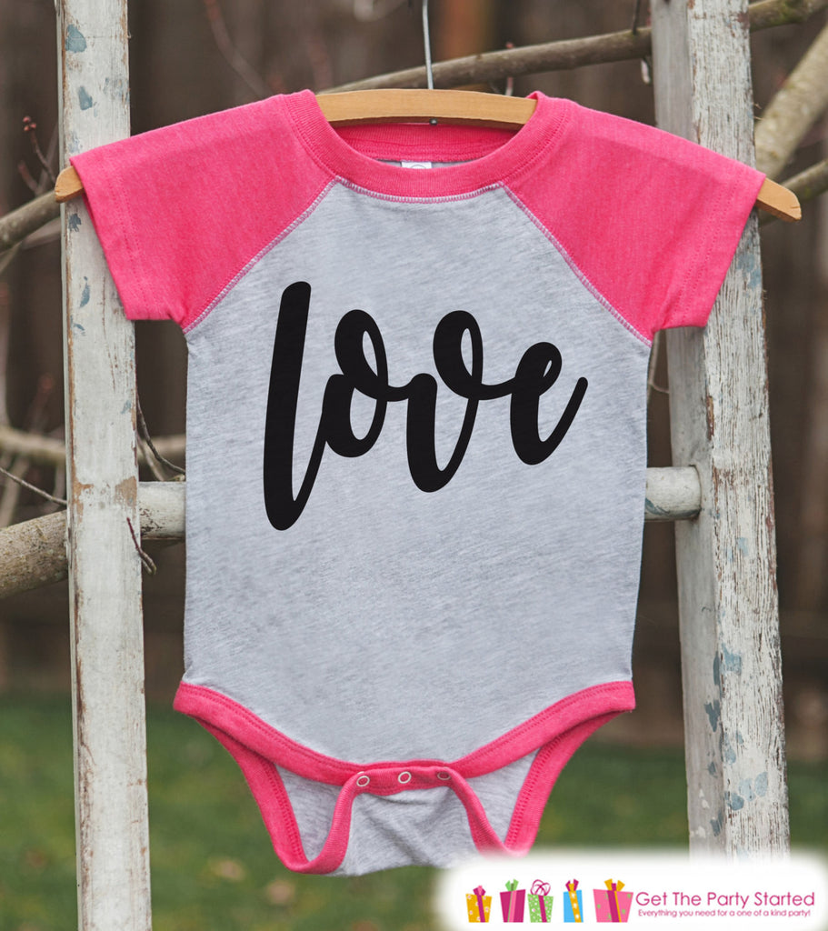 Girls Valentines Outfit Love Script Valentine S Day Shirt Or