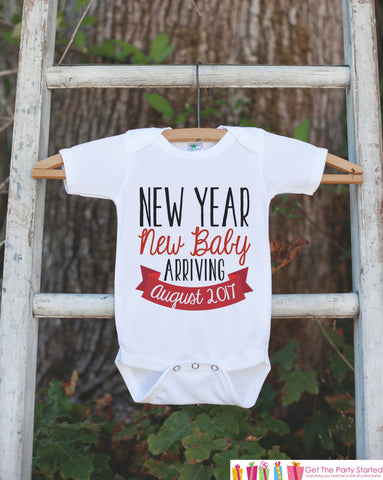 New Year New Baby Outfit - Custom New Years Eve Onepiece - Newborn Keepsake Outfit - 1st New Year Bodysuit for Baby Girls or Baby Boys - 7 ate 9 Apparel