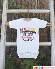 New Year New Baby Countdown - Custom New Years Eve Onepiece - Newborn  Keepsake Outfit - 1st New Year Bodysuit for Baby Girls or Baby Boys