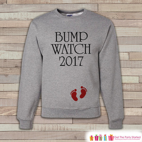 Bump Watch 2017 Sweatshirt - Adult New Year Crewneck - New Years Pregnancy - Pregnancy Sweatshirt - Baby Reveal - Pregnancy Announcement - 7 ate 9 Apparel
