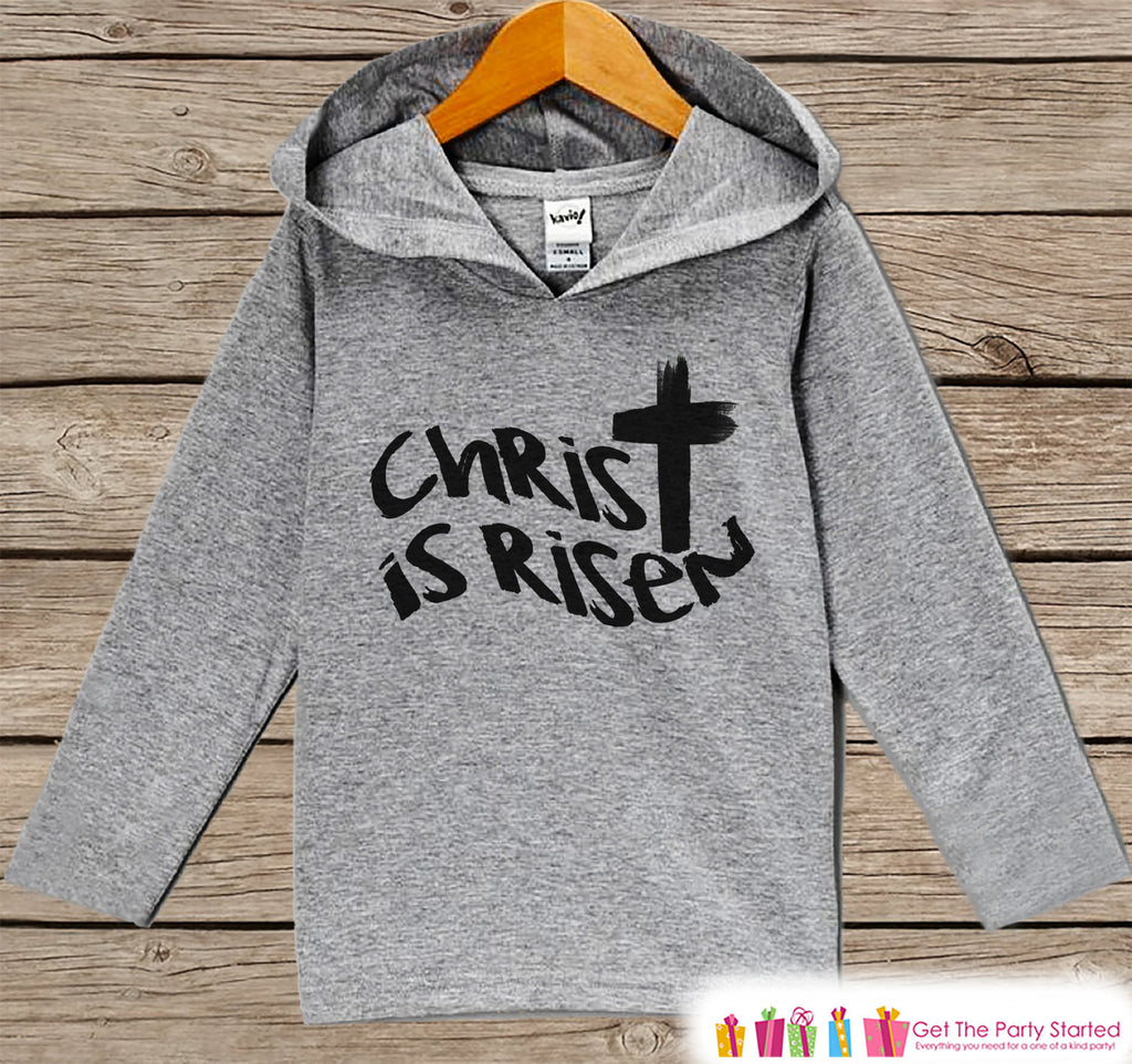 Kids Easter Outfit - Easter Christ is Risen Hoodie - Easter Spring Pullover - Baby Boy or Girl Easter Outfit - Kids Religious Toddler Hoodie - 7 ate 9 Apparel