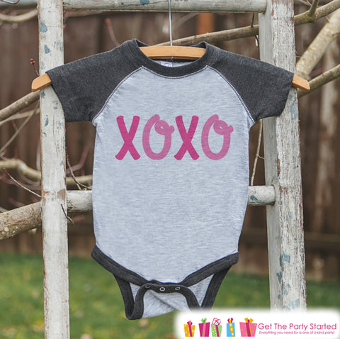 Girls Valentines Outfit   XOXO Kids Valentineu0027s Day Shirt Or Onepiece    Valentine Shirt For Baby
