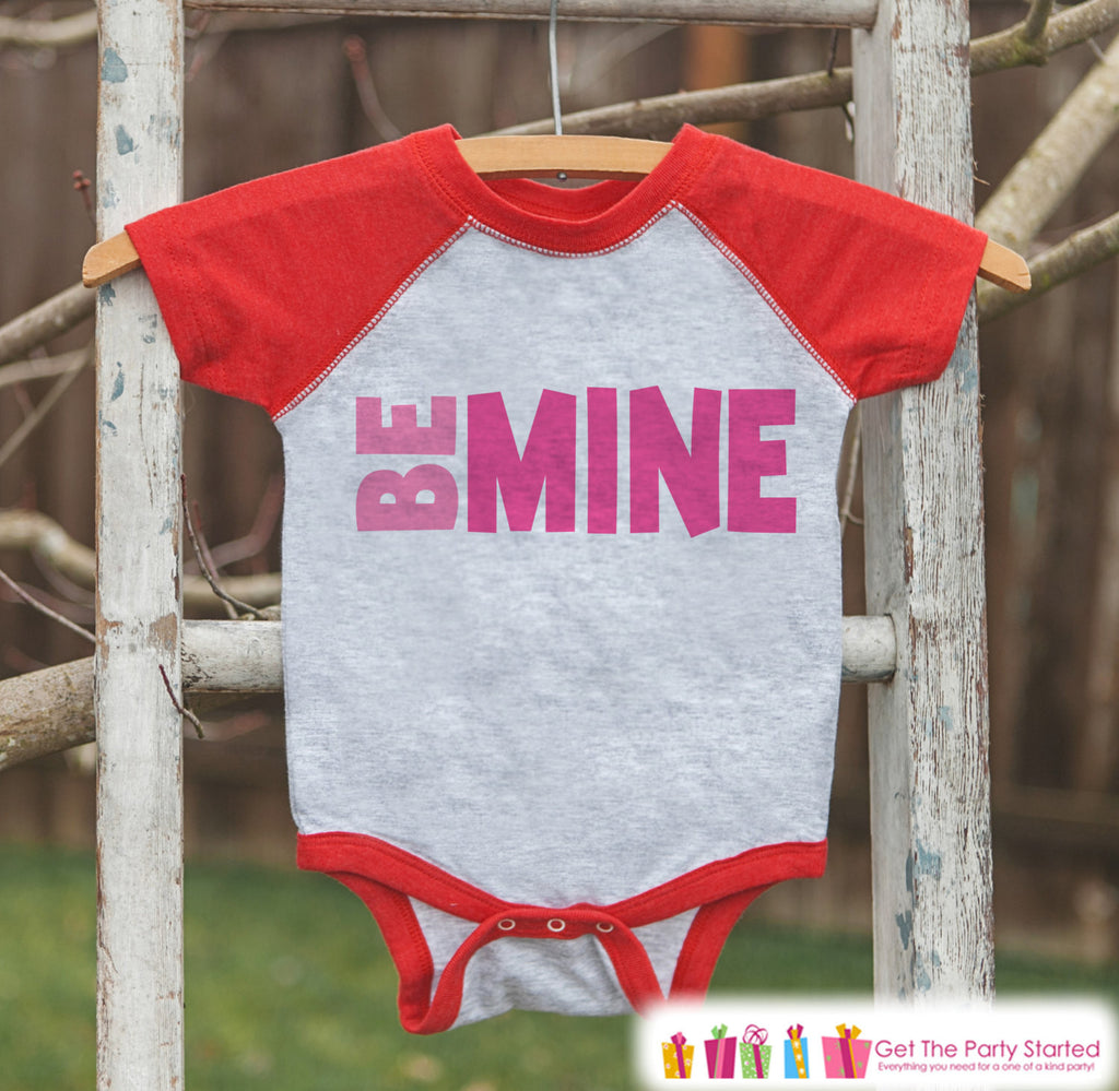 5ae02f0e8e7f Kids Valentines Outfit - Be Mine Valentine s Day Shirt or Onepiece ...
