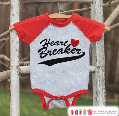... Boys Valentines Outfit   Heart Breaker Valentineu0027s Day Shirt Or  Onepiece   Funny Valentine Shirt For ...