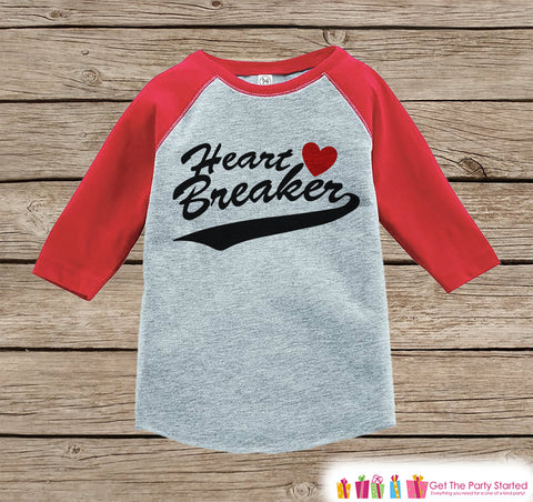 boys valentines outfit heart breaker valentines day shirt or onepiece funny valentine shirt for