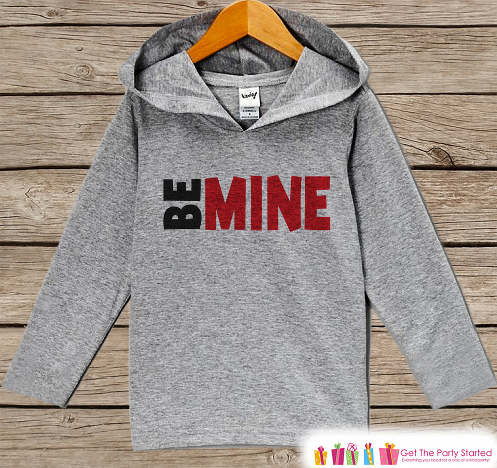 Boys Valentines Day Outfit - Kids Hoodie - Red Be Mine Valentine Pullover - Baby Boys Valentine's Day Outfit - Kids, Baby, Toddler Hoodie - 7 ate 9 Apparel